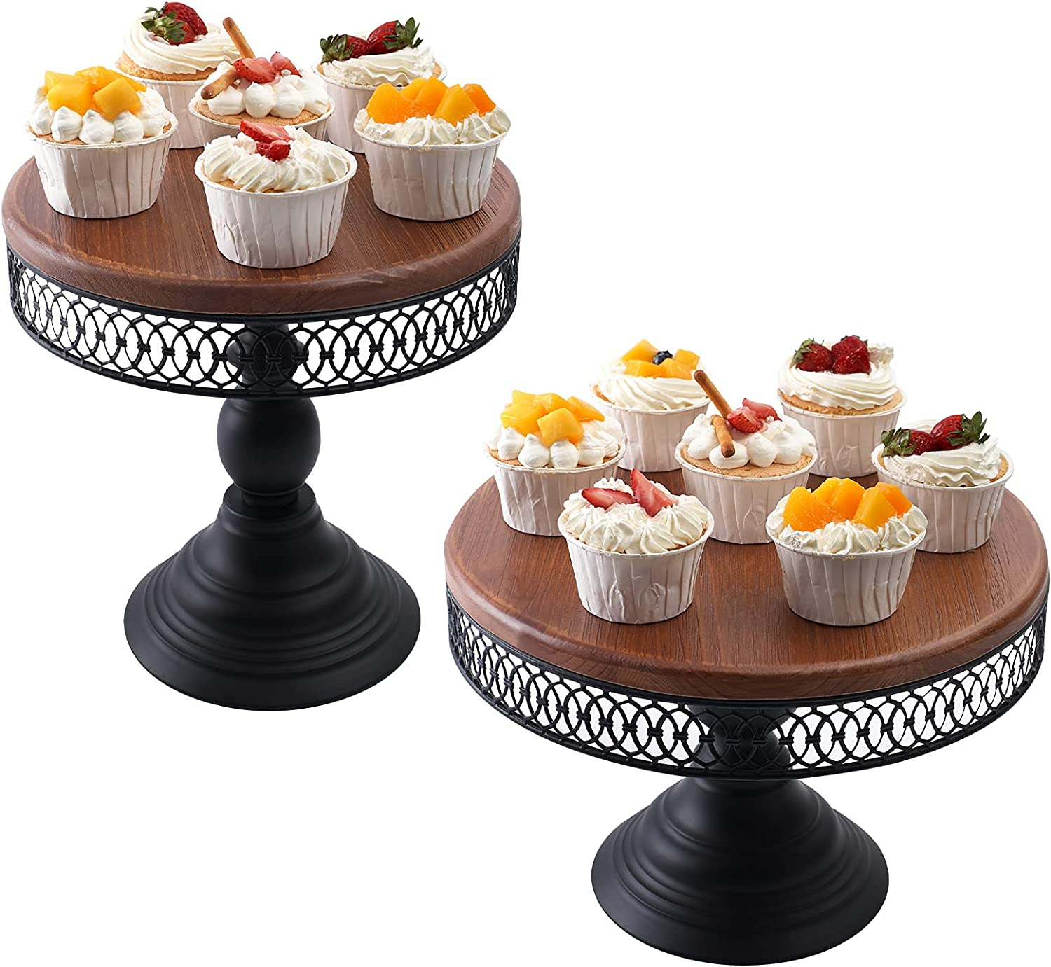 Cheap super free special price Wood Cake Stand Weharnar Wedding B Antique Metal Set