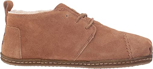 Toffee Suede/Faux Shearling