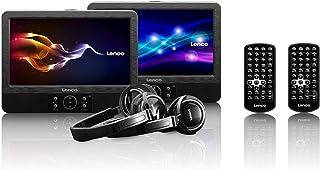 Lenco DVP-938 Double DVD portable 9 pouces – USB – SD – 2 casques – Noir