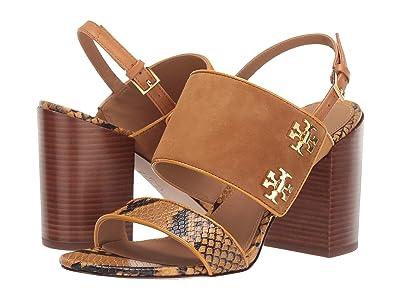 Tory Burch Kira 85 mm Sandal (Dark Tiramisu/Gold Crest) Women