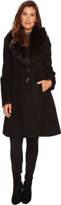 Ivanka Trump - Tulip Sleeve Wool w/ Faux Fur