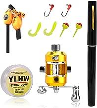 Elemart ActionEliters Portable Fishing Rod Pole and Reel Combo Set - Telescopic Pocket Fishing Pen Rod Pole + Reel Aluminum Alloy Fishing Line Soft Lures Baits Jig Hooks Firestarter Compass Whistle