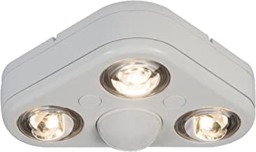 ALL-PRO Outdoor Security REV32735MW Revolve LED Triple Head 270 Degree Motion Security Light, 2400 lm, White, 3500K