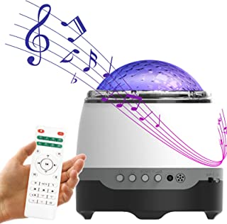 ベッドサイドランプ 星空ライト 雰囲気作り 調光調色 Bluetooth対応スピーカ 音楽再生10種類の色変換8種類のサウンドエフェクトでロマンチックな雰囲気を演出クリスマス/ハロウィン/パーティーデコレーション/キッズギフト/彼女/バースデーギフト