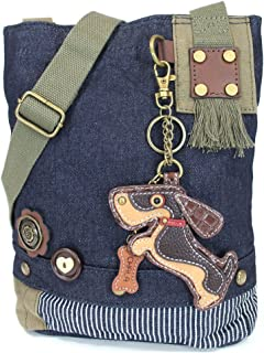 Chala Patch Crossbody, Washed Canvas Handbag, Zipper Top , Animal Prints