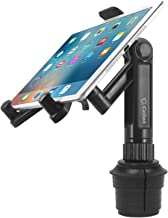 Cellet Universal 360 Adjustable Cup Holder Tablet Automobile Mount Cradle Compatible with Apple IPad Pro 12.9, Air 2019 IPad Mini 4, Samsung Galaxy Tab S4 S5e Surface Go Pro 6 (PHC670M)