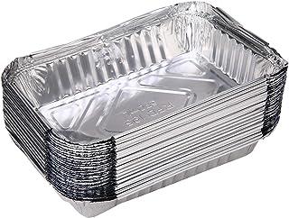 Wang shufang 30x BBQ Aluminium Foil Graisse Goutte à Goutte casseroles Recyclable Grill Bac Weber extérieur for Cuisson in...