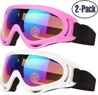 6f1f5f670a Gafas de Esquí, 2-Pack Gafas de Esquiar para Mujer Hombre, Niños,