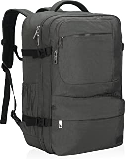 Hynes Eagle 44L Carry on Backpack Flight Approved Compression Travel Pack Cabin Bag, Grey-2018