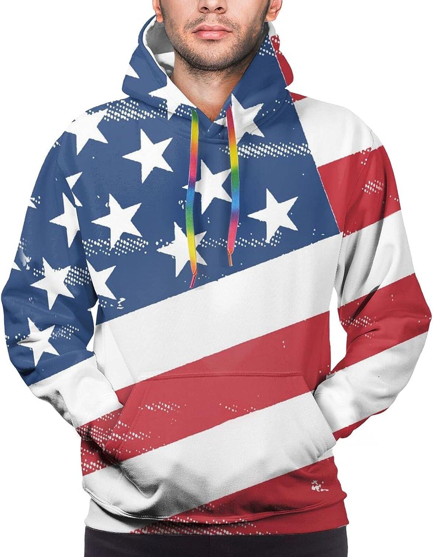 Hoodie For Mens Womens Teens American Flag Star 3d Printed Hooded Sweatshirt