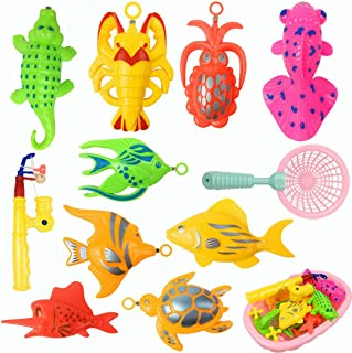 Coxeer 13PCS Kid Bath Toy Set Creative Magnetic Interactive Toy Bathtub Toy for Toddler