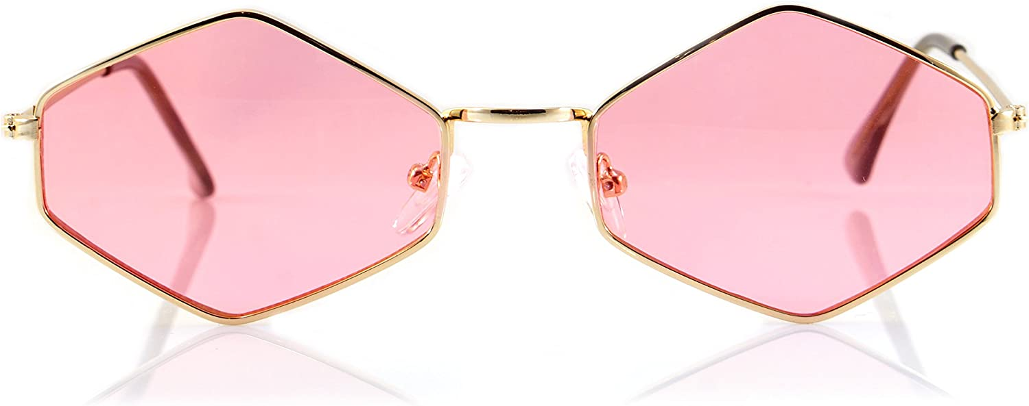 Limited time cheap sale FBL Diamond gift Hexagonal Sunglasses Smoke Pop Color A112 A21 Tinted