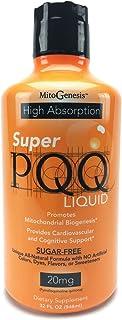 Mitogenesis - Super PQQ Liquid - Highly Absorbable Pyrroloquinoline Quinone 20 Milligram, Best Liquid PQQ for Mitochondrial Biogenesis, Supports Heart Health, Cognitive Function and Mental Focus