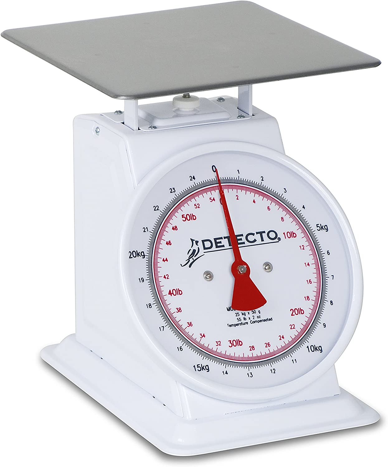 Detecto T-25-KP Top Loading Dial Scale, Dual Reading, 9  x 9 , 25 Kg  55 lb. Capacity