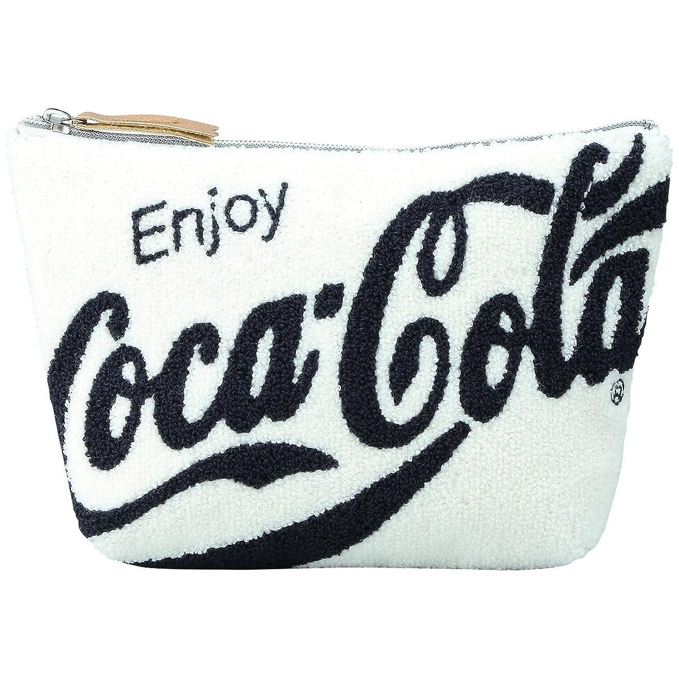 鏡スポンジ遵守するCoca-Cola(コカ?コーラ) サガラミニポーチ ホワイト