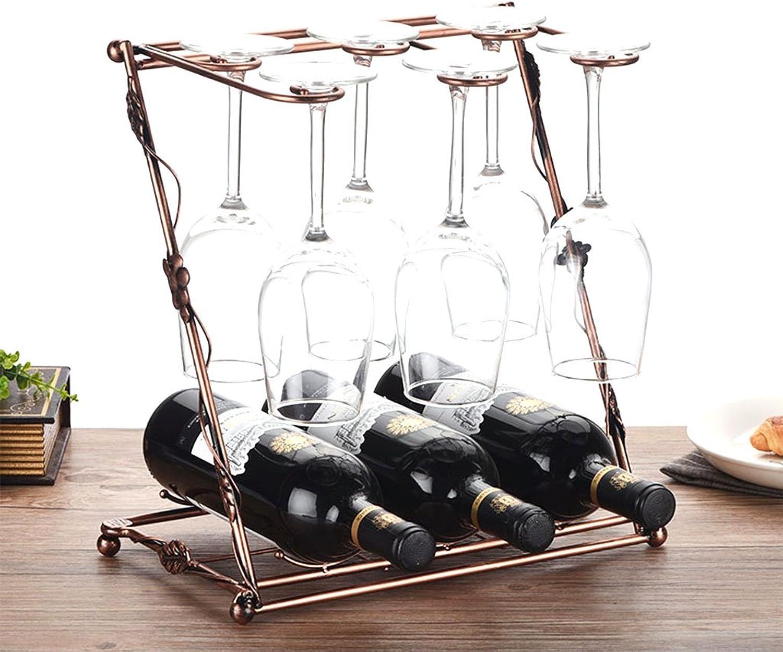 buena calidad JU FU Wine Rack, artesanías Creativas, Puede Contener Muchas Muchas Muchas Tazas y Muchas Botellas de Vino, Tamaño  33 cm de Largo 36 cm de Alto, 42 cm de Largo 41 cm de Alto   (Tamaño   33 Cm Long 36 Cm High)  precios ultra bajos