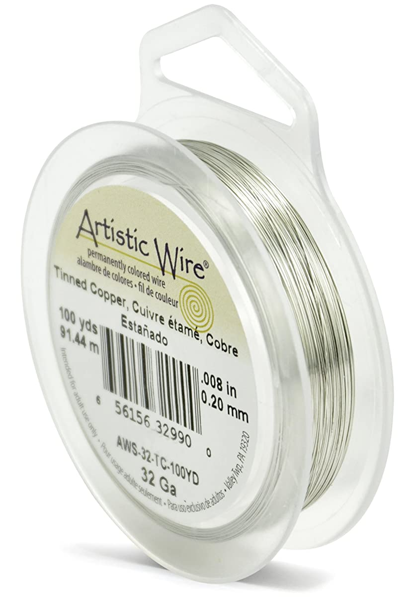 Artistic Wire 32-Gauge Tinned Copper Wire, 100-Yards