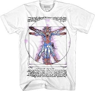 Spider-Man Shirt Vitruvian Da Vinci Spiderman Avengers Tee Superhero Adult Mens T-Shirt