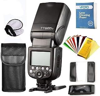 Godox TT685 S TTL Maestro-esclavo GN60 2.4G Transmisión HSS 1 / 8000S Flash Speedlite con Flash Difusor Softbox Y Flash Fi...