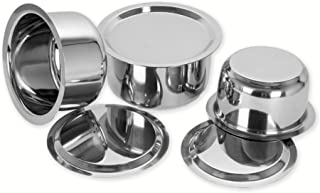 Sumeet Stainless Steel Cookware Set With Lid, 1L , 1.4L, 1.8L, 3 Piece (White)