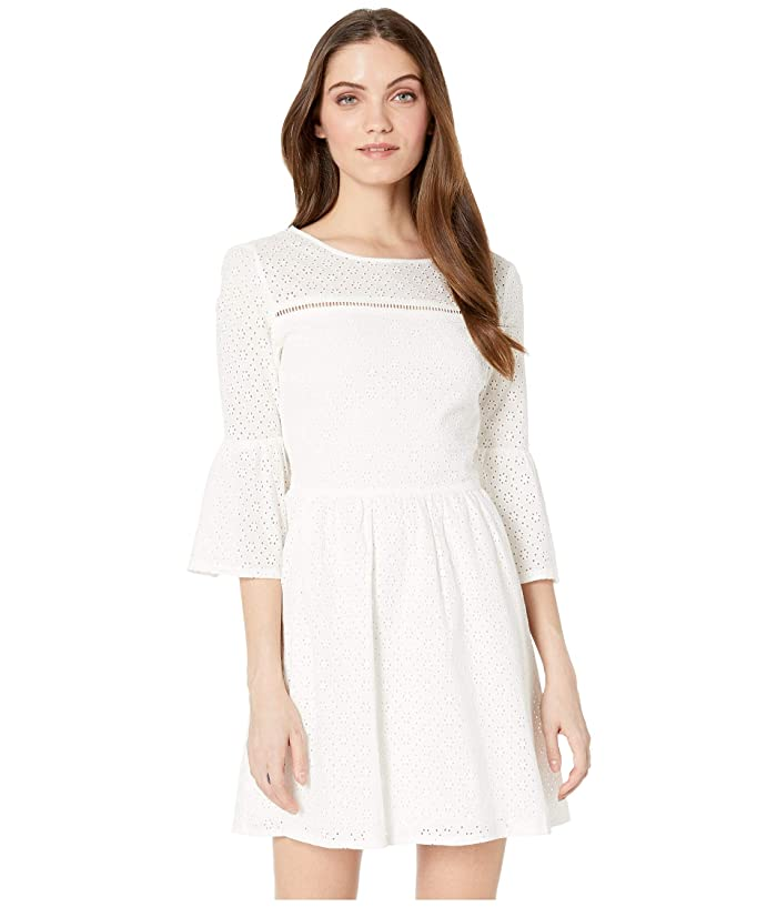 Jack by BB Dakota Eyelet On The Prize Dress (Bright White) Women