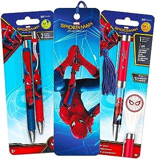 Inkworks Marvel Spiderman Pen Set - Superhero Projector Pen, 2 Premium Pens and Spiderman Bookmark (Spider-man Office Supplies)
