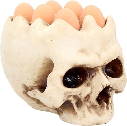 6er Eierbecher Totenschädel Skull Gothic Dekoration Frühstück Halloween NN59 - preisvergleich