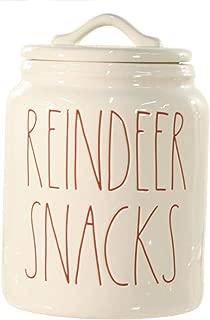 Rae Dunn Kitchen Christmas Canister - Reindeer Snacks