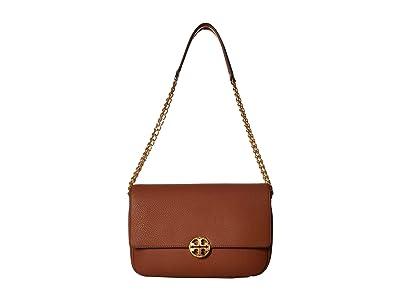 Tory Burch Chelsea Chain Shoulder Bag (Classic Tan) Handbags