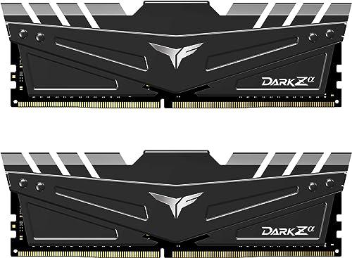 TEAMGROUP T-Force Dark Za (Alpha) 32GB Kit (2x16GB) DDR4 Dram 4000MHz (PC4-32000) CL18 Desktop Memory Module Ram for ...