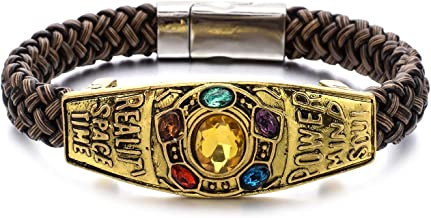 Unrend Thanos Infinite Power Soul Stone Magnet Bracelets Infinity War Cosplay Women Men Charm Bangles Jewelry