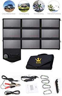 Kyng Power Foldable Solar Panel Charger Portable 60w Charger Solar Generator Panel Power Station Use with any Brand 18V Charging 5V USB 12V car charging/Camping, Emergency, Laptop, iPhone, Tablet, etc