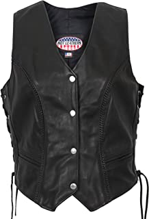 Hot Leathers USA Made Ladies Leather Vest
