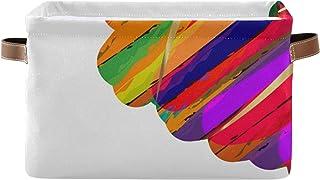 REFFW Lot de 2 bacs de Rangement en Tissu Pliable pour la Maison Cube Panier pour la Maison Placard Chambre tiroirs organi...