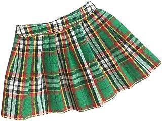 1//6 ropa muñecas mini falda Plaid vestido para 12 pulgadas Hot Toys personaje femenino