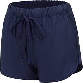 Womens Running Shorts - Athletic Dolphin Shorts (Solid/Color Block)