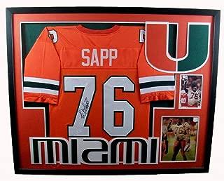 Warren Sapp Miami Hurricanes Autograph Signed Custom Framed Jersey JSA Certified