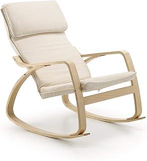 comprar comparacion duehome - Mecedora Giro balanceo relajante, sillón balancín maternidad, medidas: 95 x 66 x 92 cm.