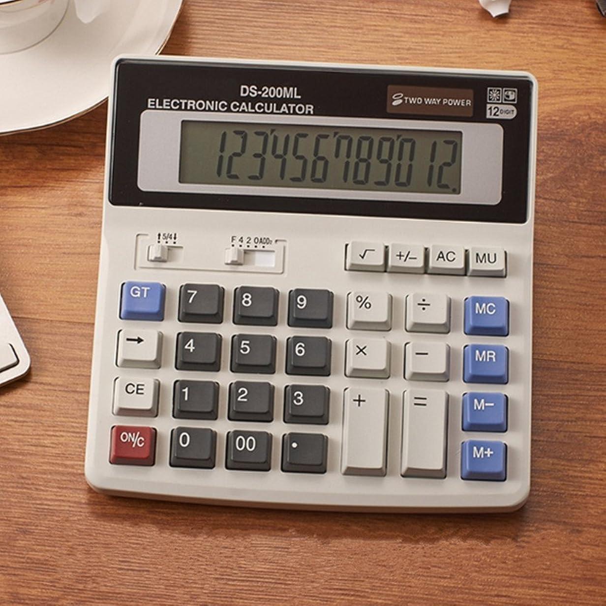費やす競争征服12桁電子計算機、デスクトップ電卓、標準関数電卓、計算機、電子デスクトップ電卓、金融電卓ビジネスオフィス電卓大型LCD表示