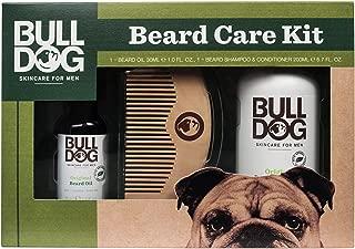 Bulldog Skincare and Grooming For Men Original Beard Care Kit with Beard Oil, Beard Shampoo and Conditioner and a Bonus Beard Comb