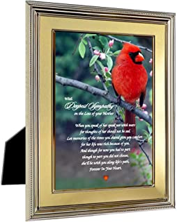 Loss of Mother Sympathy Card Consoling Poem on Cardinal Print, Lasting Memorial