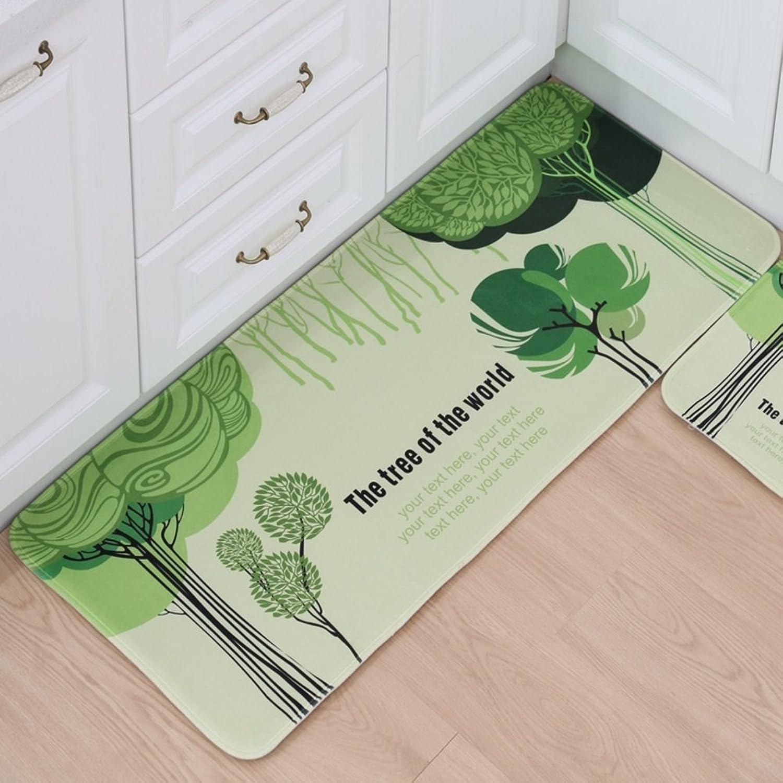 Indoor mats mats for Bedroom Floor Bathroom Water-Absorbing Anti-skidding mat Foot Pads in The Kitchen-D 60x90cm(24x35inch)