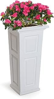 Mayne 4833-W Nantucket Polyethylene Planter, White