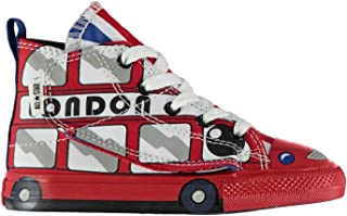 Official Converse Hi Creature Trainers Boys Red Shoes Footwear