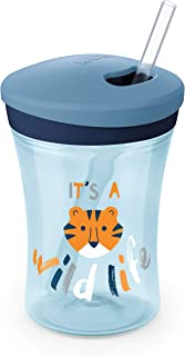 NUK Evolution Straw Cup, 8 oz, 1-Pack, Blue