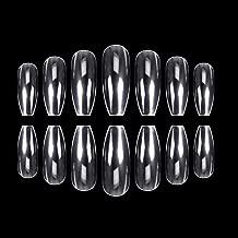 ECBASKET 500pcs Coffin Nails Clear Ballerina Nail Tips Acrylic Nails Full Cover False Artificial Nails 10 Sizes for Nail Salon or DIY Nail Art at Home
