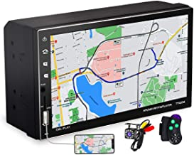 $44 » Full Touch Control Double Din Car Stereo with 7 Inch Capacitive Touchscreen and Bluetooth Handsfree, 2 Din Car Radio Recei...