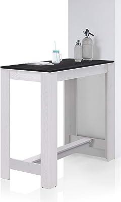 Stella Trading Hugo Table de Bar Moderne Aspect mélèze Sibiu – Comptoir Peu encombrant pour Cuisine et Salle à Manger en Bois 120 x 108 x 58 cm