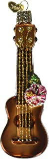 Old World Christmas Ornaments: Ukulele Glass Blown Ornaments for Christmas Tree (38040)