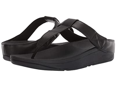 FitFlop Mina Toe-Thong (All Black) Women